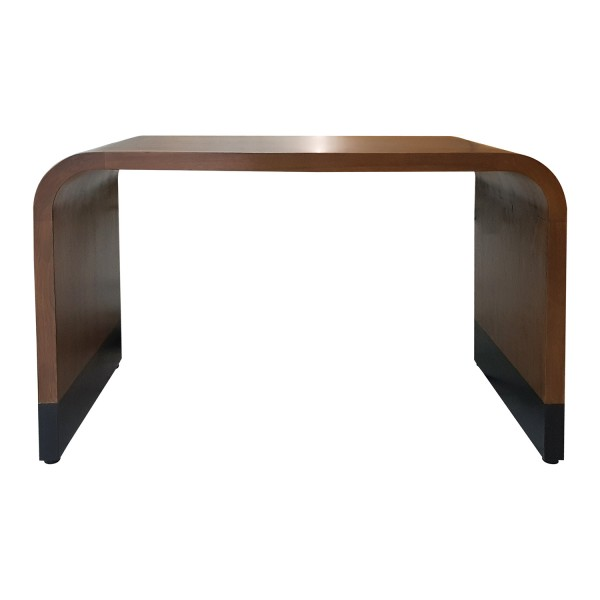 CUSTOM WOOD CURVED WATERFALL EDGE TABLE
