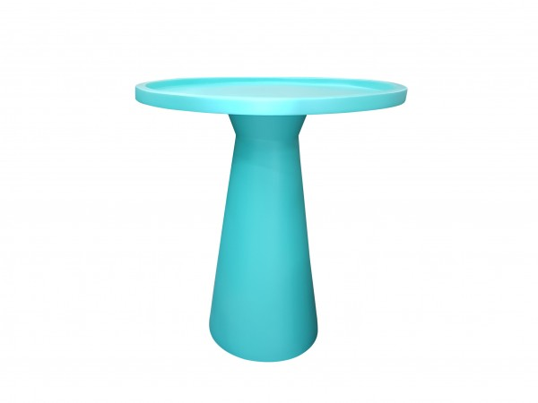 CUSTOM GLAZED CERAMIC SIDE TABLE