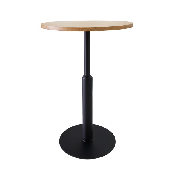 HIGH TABLE WITH POWDERCOATED BASE