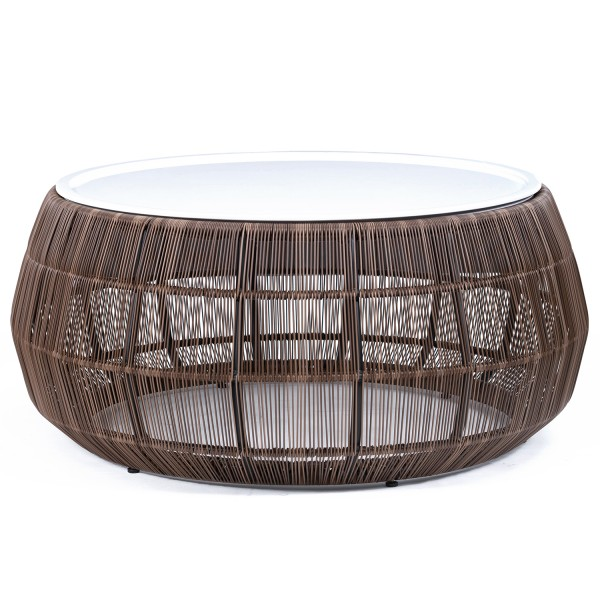 OUTDOOR WEAVING ROPE COFFEE TABLE