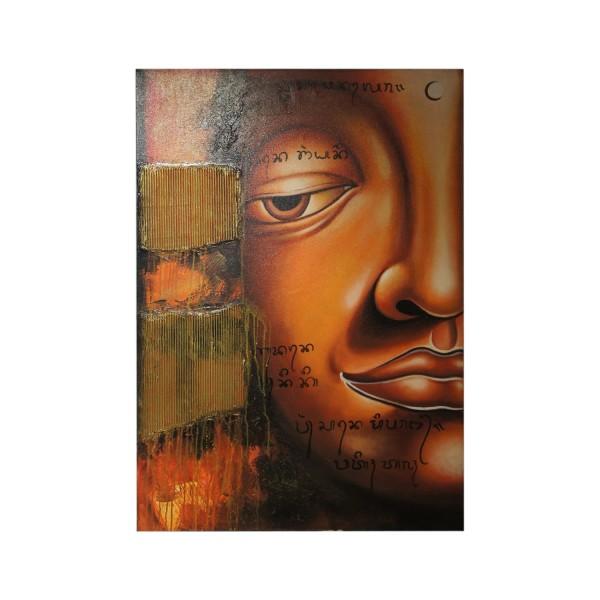 PAINTING RETRAT BUDHA FACE