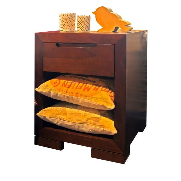 PLAIN BEDSIDE TABLE 1 DRAWER