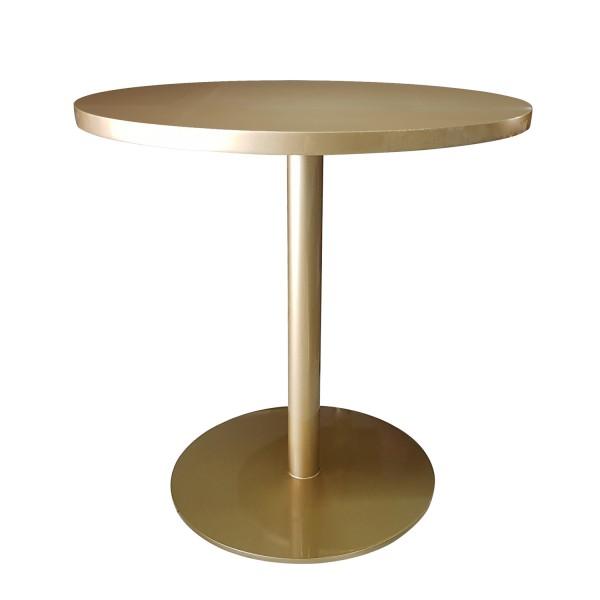 ROUND BRASS BISTRO TABLE