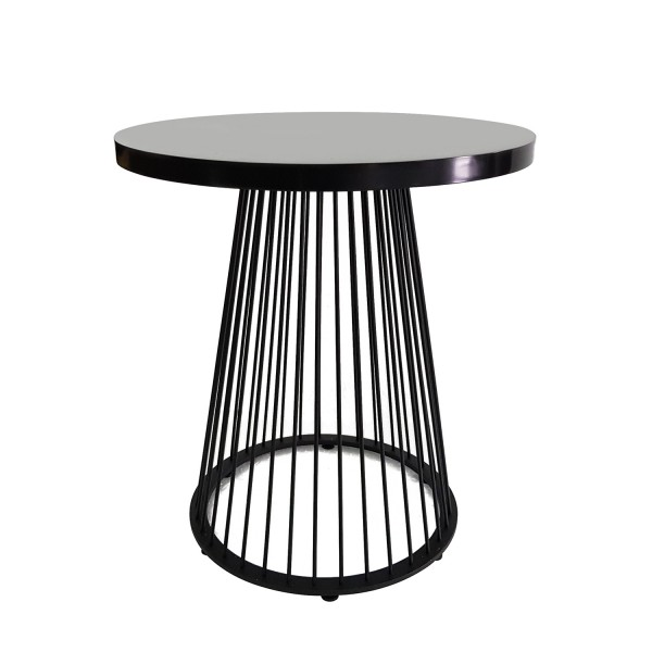ROUND STEEL COCKTAIL TABLE