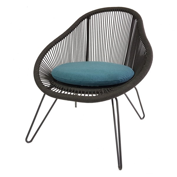 SIDE CHAIR CURVED METAL