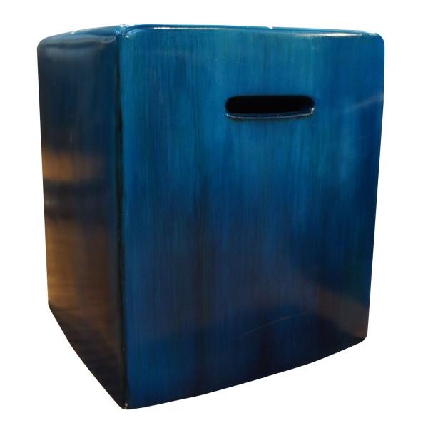 SQUARE BLUE STOOL