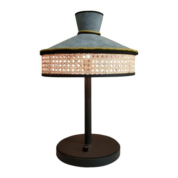 TABLE LAMP WICKER